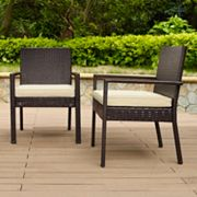 Palm Harbor Faux Wicker Dining Chair 2 pc Set