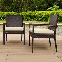 Palm Harbor Faux Wicker Dining Chair 2-piece Set