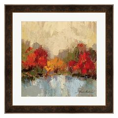 Metaverse Art Fall Riverside I Framed Wall Art