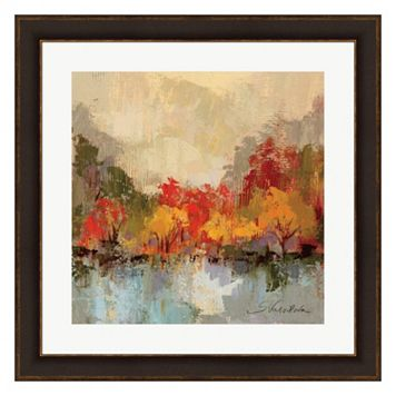 Metaverse Art Fall Riverside II Framed Wall Art