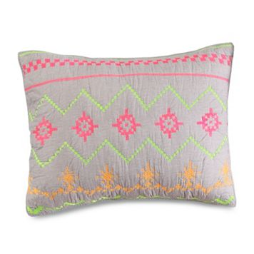 Marion Neon Embroidered Standard Sham