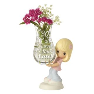 """Precious Moments """"Love You Lots"""" Vase Girl Figurine"""