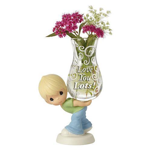 "Precious Moments ""Love You Lots"" Vase Boy Figurine"