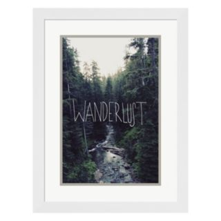 "Metaverse Art ""Wanderlust"" Rainier Creek Framed Wall Art"