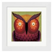 Metaverse Art 'Owl WOW' Framed Wall Art