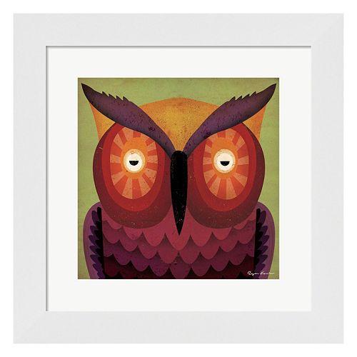 """Metaverse Art """"Owl WOW"""" Framed Wall Art"""