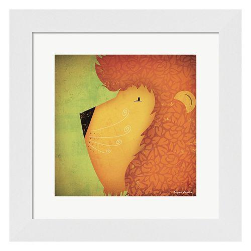 """Metaverse Art """"Lion WOW"""" Framed Wall Art"""