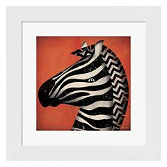 Metaverse Art 'Zebra WOW' Framed Wall Art