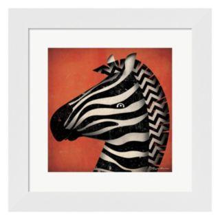 """Metaverse Art """"Zebra WOW"""" Framed Wall Art"""