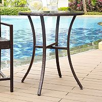 Palm Harbor Faux Wicker Bistro Table