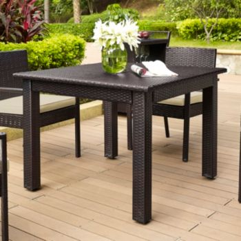 Palm Harbor Faux Wicker Square Dining Table