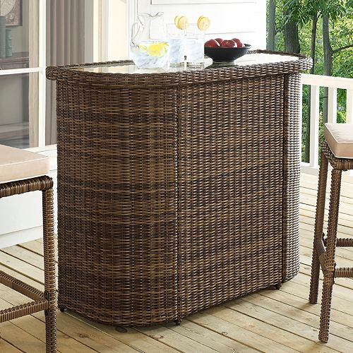 Bradenton Faux Wicker Bar