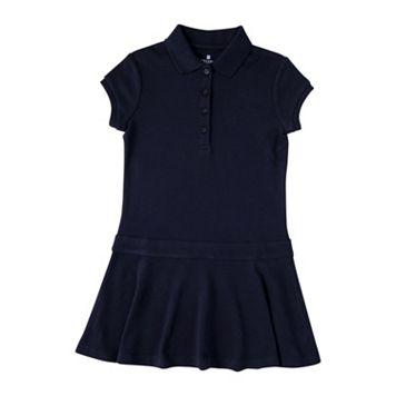 Girls 4-6x Chaps School Uniform Short Sleeve Polo Shirt Dress