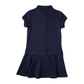 Girls 4-6x Chaps School Uniform Short Sleeve Polo Shirt Dress