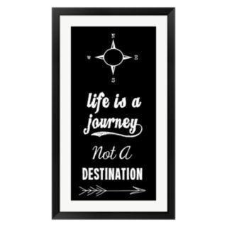 """Metaverse Art """"Life Is A Journey"""" Black Framed Wall Art"""