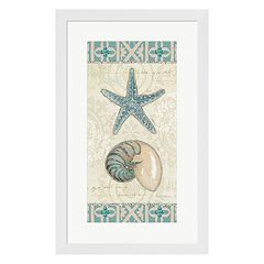 Metaverse Art Beach Treasures I Framed Wall Art