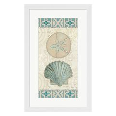 Metaverse Art Beach Treasures II Framed Wall Art