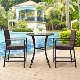 Palm Harbor Outdoor Wicker Bistro 3-piece Set