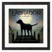 """Metaverse Art Moonrise Dog """"Labrador Lake"""" Framed Wall Art"""
