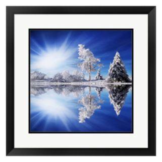 Metaverse Art Cold Light Framed Wall Art