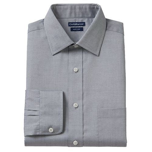 Big & Tall Croft & Barrow® Slim-Fit Easy-Care Pinpoint Oxford Dress Shirt