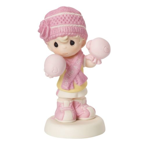Precious Moments Special Wishes Breast Cancer Fight Like A Girl Figurine
