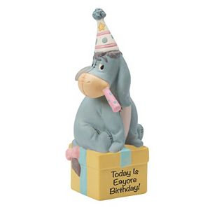 Disney's Winnie the Pooh Birthday Eeyore Figurine by Precious Moments