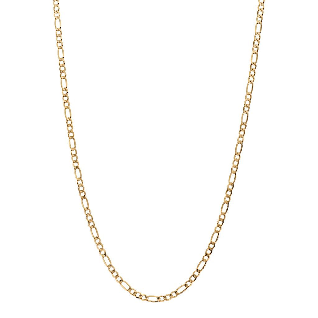 18k Gold Figaro Chain Necklace - 20 in.