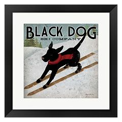 Metaverse Art 'Black Dog Ski Co.' Framed Wall Art