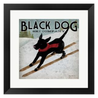 "Metaverse Art ""Black Dog Ski Co."" Framed Wall Art"