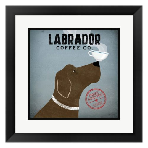 "Metaverse Art ""Labrador Coffee Co."" Framed Wall Art"