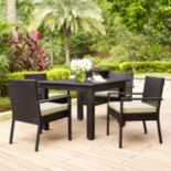 Palm Harbor Outdoor Wicker Dining 5 pc Set