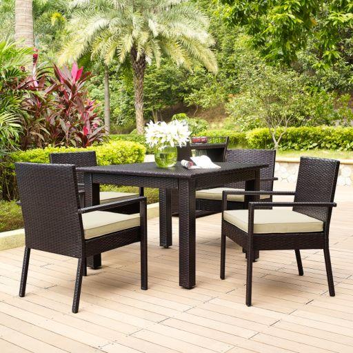 Palm Harbor Outdoor Wicker Dining 5-piece Set