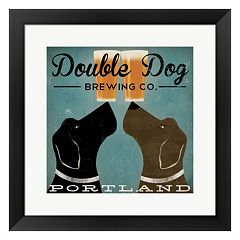Metaverse Art 'Double Dog Brewing Co.' Framed Wall Art