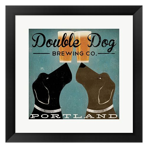 "Metaverse Art ""Double Dog Brewing Co."" Framed Wall Art"