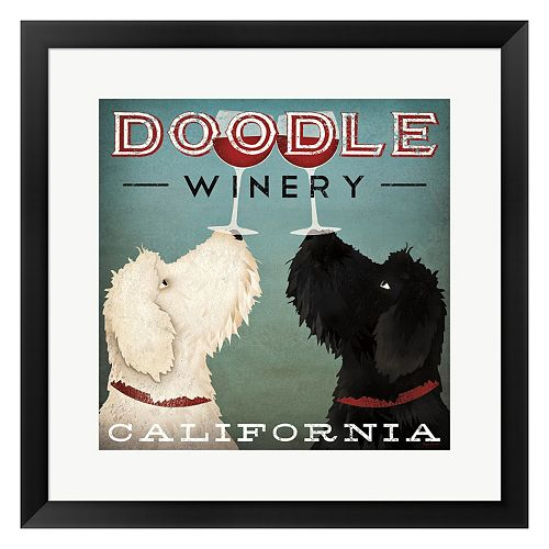 "Metaverse Art ""Doodle Winery"" Framed Wall Art"