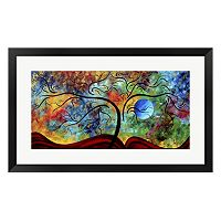 Metaverse Art Blue Moon Rising Framed Wall Art