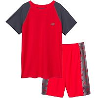 Boys 4-7 New Balance Performance Tee & Logo Shorts Set