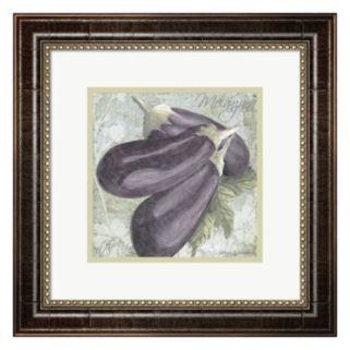Metaverse Art Buon Appetito Eggplant Framed Wall Art