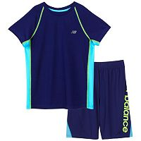 Boys 4-7 New Balance Performance Mesh Colorblocked Tee & Shorts Set