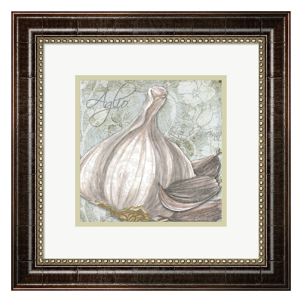 Metaverse Art Buon Appetito Garlic Framed Wall Art