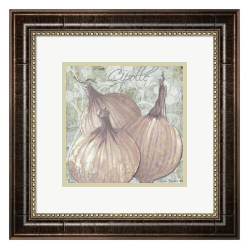Metaverse Art Buon Appetito Red Onions Framed Wall Art