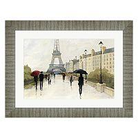 Metaverse Art Paris Eiffel in the Rain Framed Wall Art
