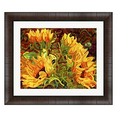 Metaverse Art Four Sunflowers Framed Wall Art