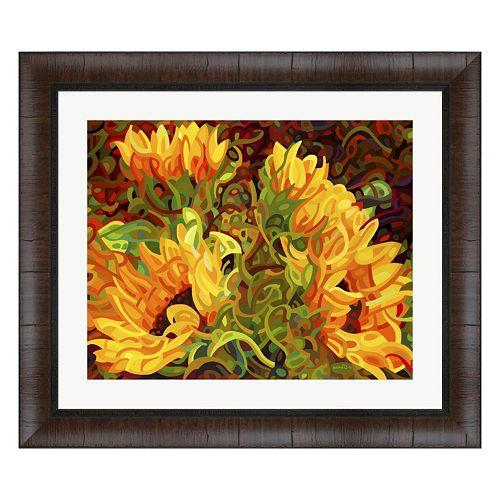 Metaverse Art Four Sunflowers Framed Wall Art