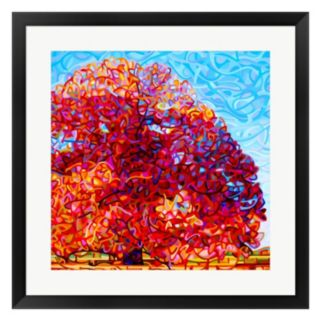 Metaverse Art Buddha Tree Framed Wall Art