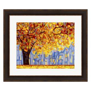 Metaverse Art October Gold Framed Wall Art