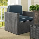 Palm Harbor Outdoor Gray Wicker Arm Chair