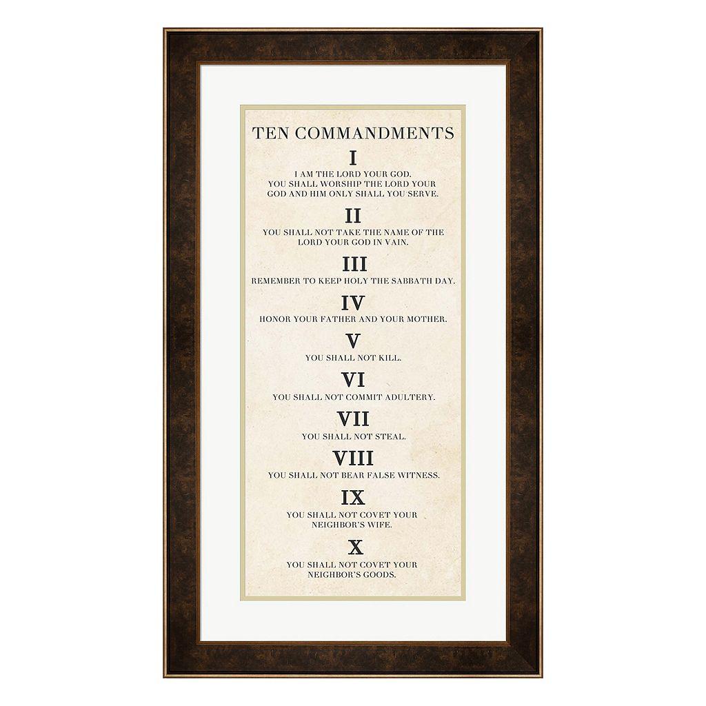 Metaverse Art Ten Commandments Framed Wall Art