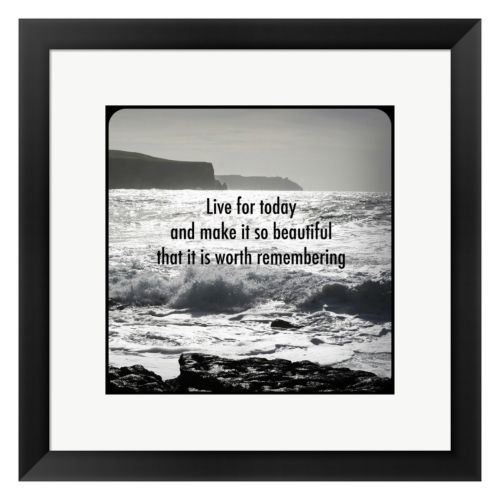 Metaverse Art Inspiration Shore Framed Wall Art